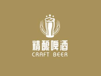 棕色简约酒庄酒吧啤酒图标logo设计