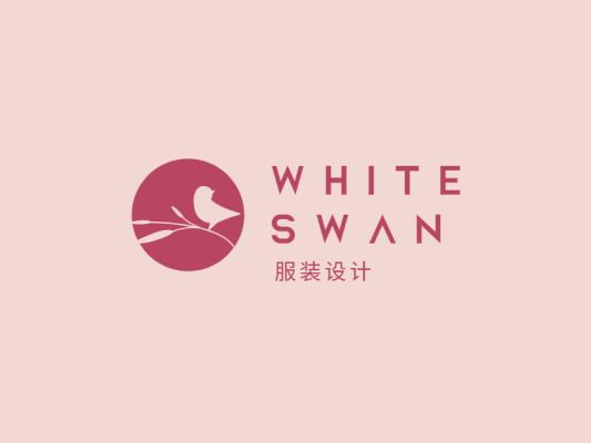 粉色文艺服装店铺logo设计