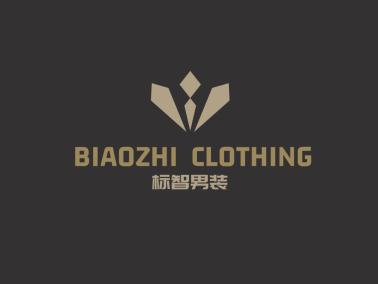 黑色简约时尚男装店铺logo设计