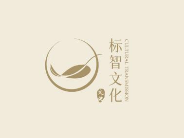 棕色簡約文藝店鋪logo設計