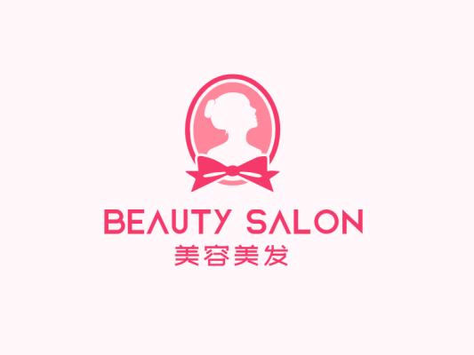 粉色文艺店铺logo设计