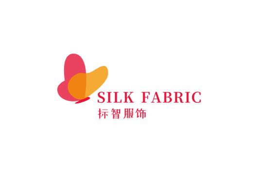 红色简约文艺蝴蝶店铺logo设计