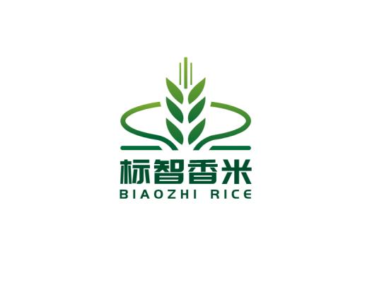 绿色创意农产品麦穗产品商标logo设计
