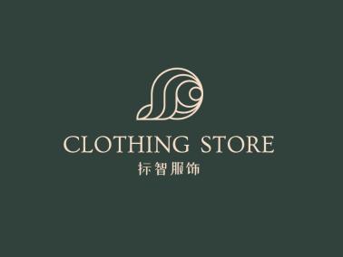 绿色简约高级店铺图标logo设计