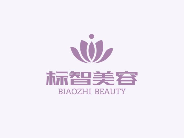 紫色简约文艺店铺logo设计