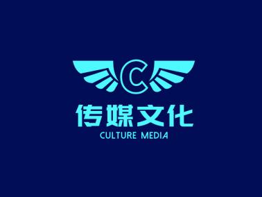 綠色創意時尚發光字傳媒公司logo設計