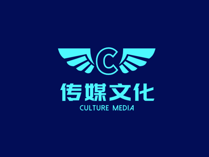 绿色创意时尚发光字传媒公司logo设计