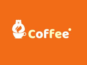 橙色极简卡通饮品店铺logo设计