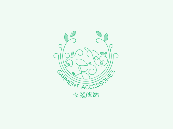绿色文艺清新店铺logo设计