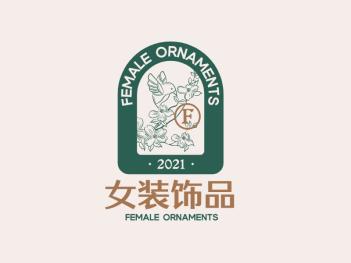 绿色创意文艺徽章logo设计