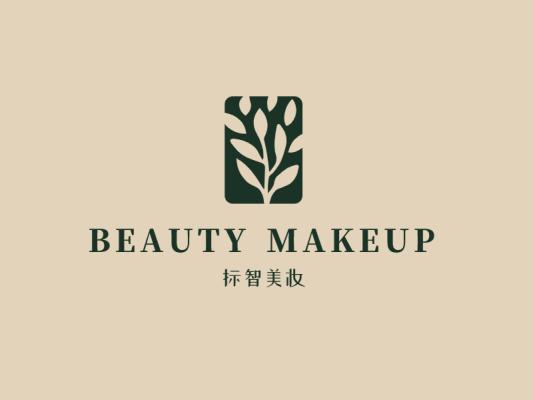 黑色文艺创意叶子产品商标logo设计