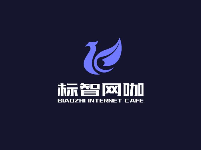 黑色简约酷炫店铺logo设计