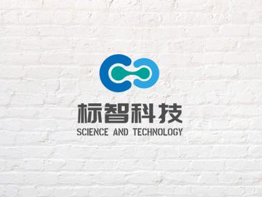 灰色簡約商務科技公司logo設計