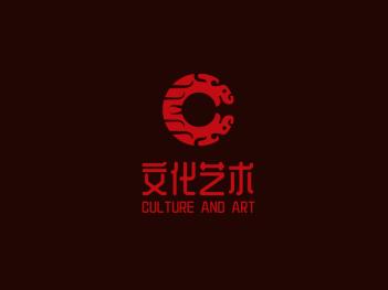 红色中式文化艺术公司logo设计