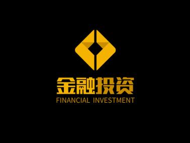 金色簡約商務金融投資公司logo設計