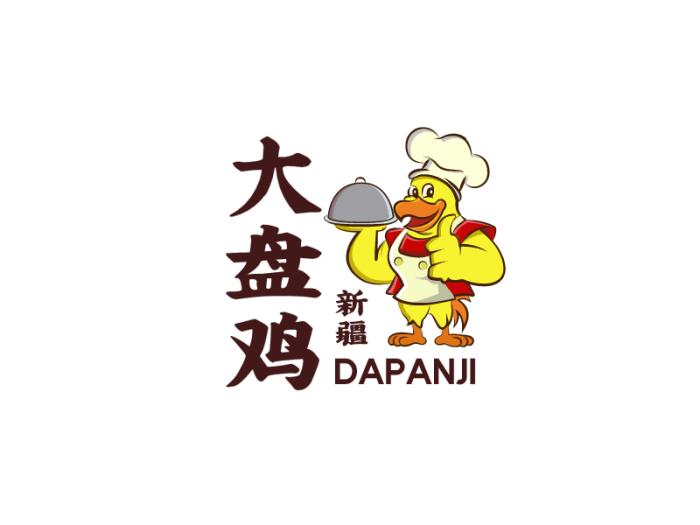 黄色卡通餐饮餐厅店铺logo设计