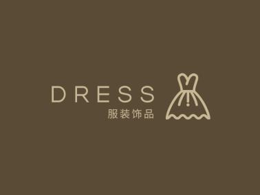 棕色简约高级服装店铺logo设计