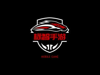 红色酷炫电竞游戏徽章logo设计