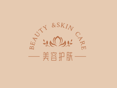 棕色文艺奢华美容护肤店铺logo设计