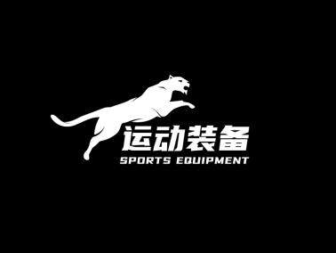 黑色酷炫运动装备店铺logo设计