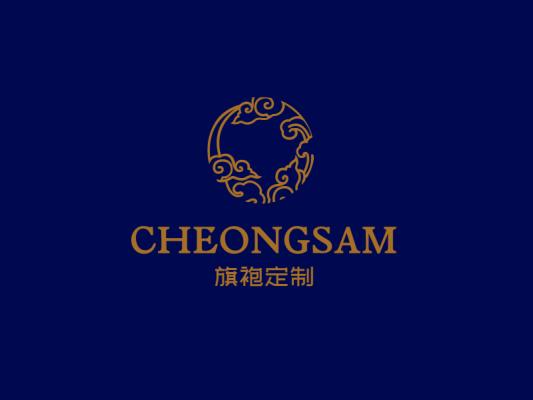金色创意奢华云纹店铺logo设计