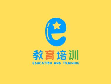 藍色創意卡通教育培訓機構公司logo設計