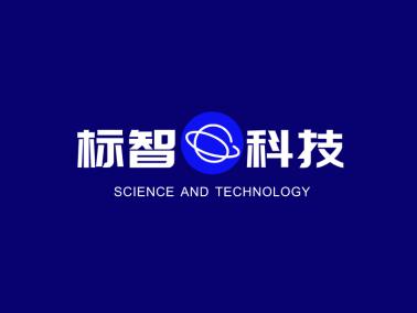 藍色簡約創意科技公司logo設計