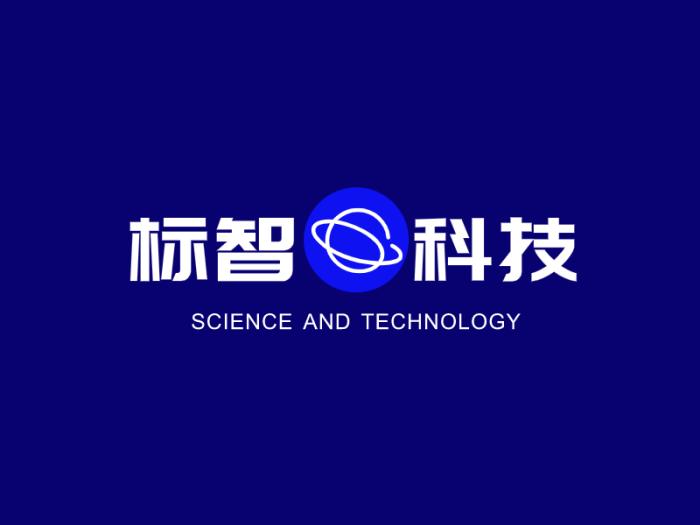 蓝色简约创意科技公司logo设计