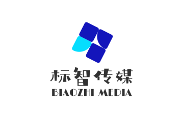 蓝色简约商务传媒公司logo设计