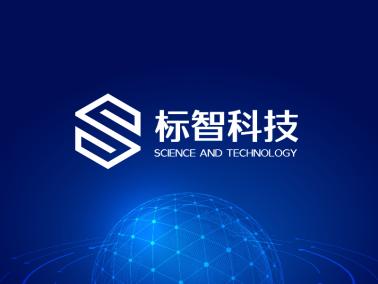 藍色簡約商務科技公司logo設計