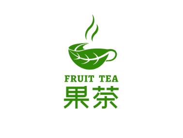 绿色简约创意茶产品商标logo设计