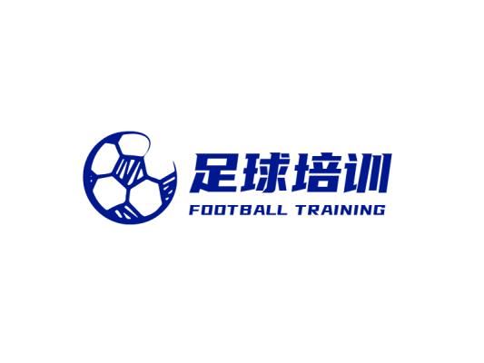手绘足球logo设计