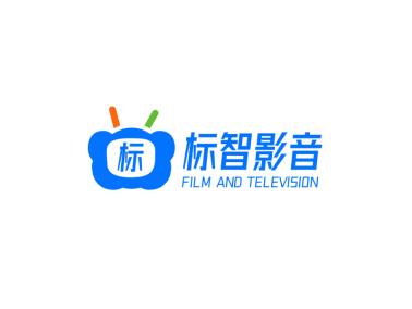 簡約創意電視影音logo設計