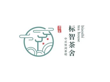 中式文艺茶舍logo设计
