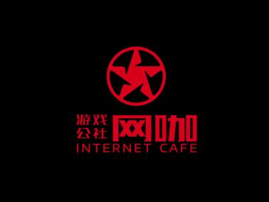 黑红色创意酷炫游戏logo设计
