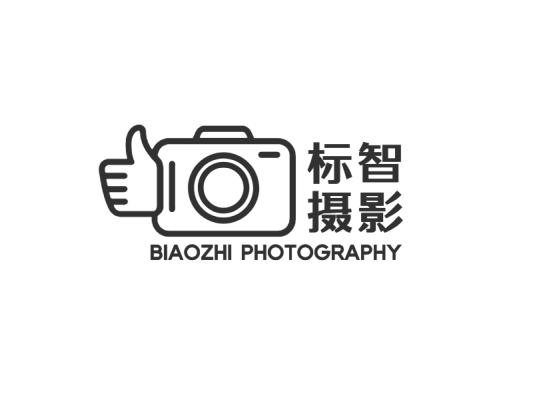 黑色简约卡通摄影logo设计