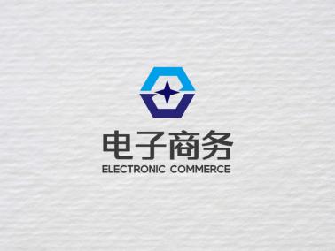 藍色簡約商務logo設計