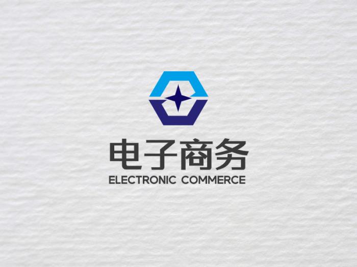 蓝色简约商务logo设计