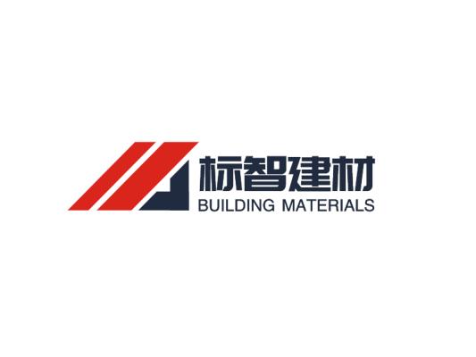 红蓝色简约商务建材logo设计