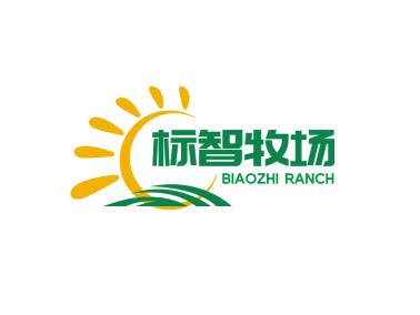 绿色创意太阳牧场logo设计