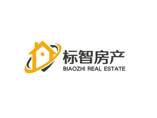 灰色简约商务房子房产图标logo设计