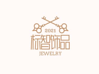 金色徽章精致钥匙logo设计
