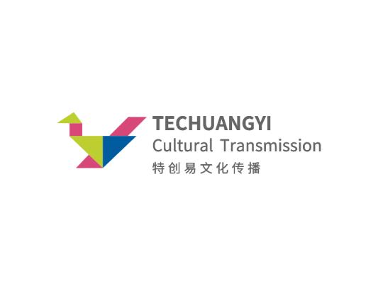 灰色创意鹤文化传播logo设计