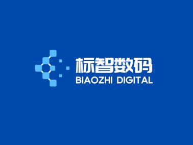 藍色簡約商務科技logo設計