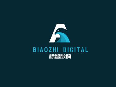藍色酷炫字母鷹logo設計