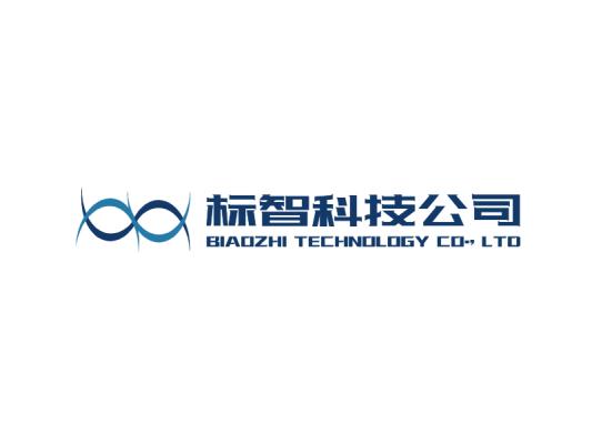 蓝色简约商务科技公司logo设计
