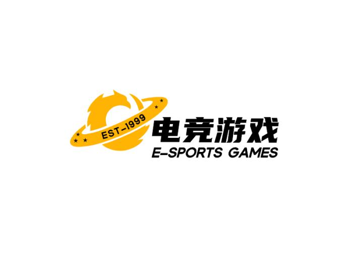 黄色简约酷炫电竞logo设计