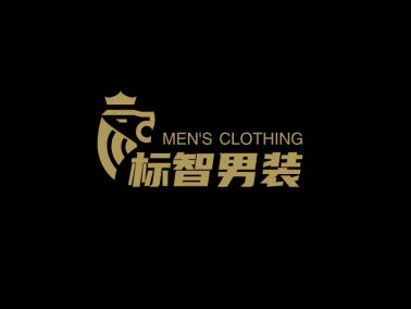 黑色創意酷炫獅子服裝logo設計