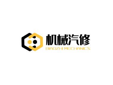 棕色创意齿轮机械logo设计