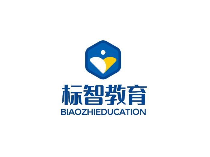 蓝色简约教育学校logo设计